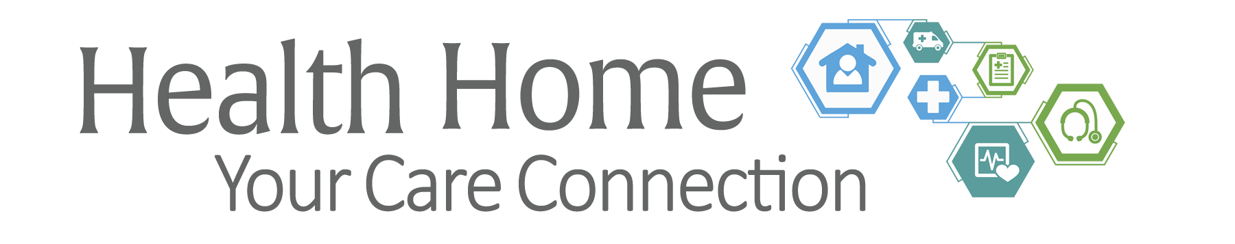 Health home logo with graphics